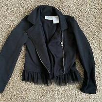 Blush by Us Angels Girls Size 6x Black Jacket With Tulle Fringe Photo
