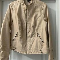 Blush Color Faux Leather Jacketbeautiful  Size L Apt 9 Photo