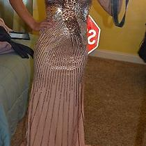 Blush Colored Sequined Prom Gown Photo