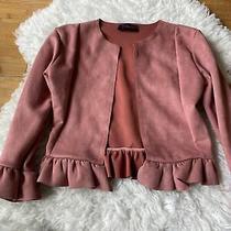 Blush Crop Blazer Skirt Set Photo