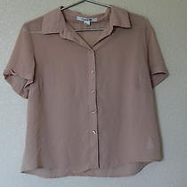 Blush Forever 21 Chiffon Button Down Size Large Photo