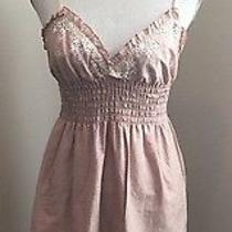 Blush Forever 21 Cotton Blend Knee-Length Spaghetti Strap Casual Sundress Small Photo
