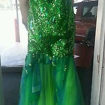 Blush Green & Blue Homecoming or Prom Dress Highlow  Photo