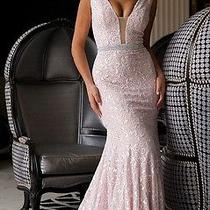 Blush Lace Sleeveless Prom Dress 22917 Photo
