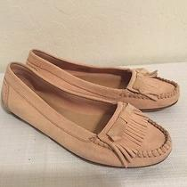 Blush Leather J.crew Moccasins Size 9.5 Great Condition Cute Flats  Photo