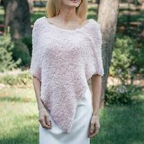 Blush Light Pink Bridal Poncho Winter Wedding Cover Up Faux Fur Coverup Shawl Photo