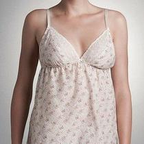 Blush Lingerie Love Always Cream Floral Camisole Top Cotton Silk M 48 Free Ship Photo
