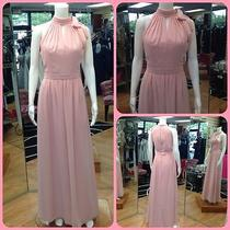 Blush Long Evening Gown Size 10 Dessy Bridesmaid Dress  Photo
