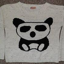 'Blush' Long Sleeved Jumper With Panda on Front Size S/m 12 Please Look Photo