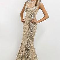 Blush New Gold Sequin Prom Evening Hown Dress 2 Photo