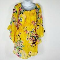 Blush Off the Shoulder Bell-Sleeve Dress Women's Size M Photo