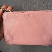 Blush Pale Pink Coach Leather Wristlet Wrist Clutch Bag Purse New W/o Tags Nwot Photo