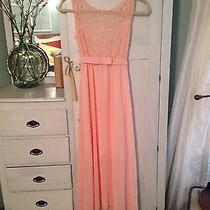 Blush/ Peach Lace Dress Photo