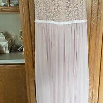 Blush Pink Bridesmaid Dress Davids Bridal Size 4. Cap Sleeve Floor Length Photo