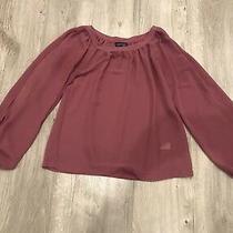 Blush Pink Chiffon Top Cut Out Sleeves Topshop Size 8 Photo