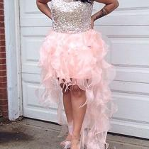 Blush Pink Diamond Studded Prom Dress  Photo