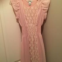 Blush Pink Dress With Lace Photo