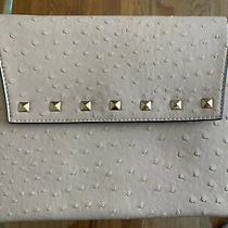 Blush Pink Faux Ostrich Studded Envelope Clutch  Photo