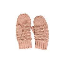 Blush Pink Fleck Yarn Knitted Soft Mittens Acrylic Look by M 2016 Fall Winter Photo