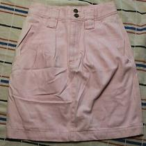 Blush Pink High Waist Vintage Denim Skirt by Claus Sport 28 Inch Waist Tag 6 Photo