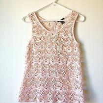 Blush Pink Lace Crochet Tank Top Scalloped Hem Madewell Photo