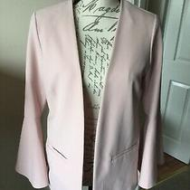 Blush Pink Lightweight Jacket With Split Bell Sleeves Size 12 Photo