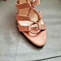 Blush Pink Nude Strappy Heels Sandals Us Size 7 Photo
