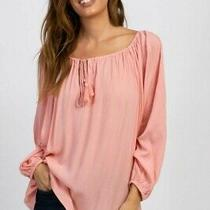Blush Pink Peasant Maternity h&m Top Free People Blouse Urban Outfitters Zara M Photo