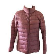 Blush Pink Puffer Jacket Size Xl Ultralight Weight Packable Parka Photo