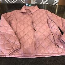 Blush Pink Puffer Lightweight Jacket Size Large New Photo