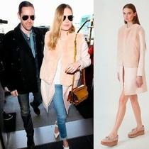 Blush Pink Rose Faux Fur Midi Wol Mix Coat Zara Basic Millennial S 8 10 Bnwot Photo