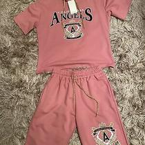 Blush Pink Shorts and Hoodie set.fits a Size 12..(new) Photo