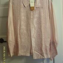 Blush Pink Silk Jacket With Rayon/cotton Embroidery and Pink Tank Photo