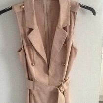 Blush Pink Sleevless Dress Suedette  Size Small 34bust  New Condition Photo