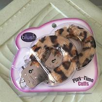 Blush Playtime Cuffs Leopard Print Fur - New Photo