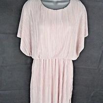 Blush Plisse Crinkle Dress Size 8 Batwing Cap Sleeves Evening Wedding Guest Photo