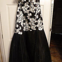 Blush Prom Black/silver Prom/formal Dress-Nwt-Size 14-Mermaid Style Photo
