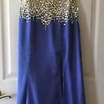 Blush Prom by Alexia Iris/nude Embellished Gown Size 8 Photo