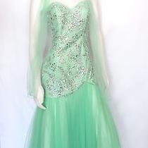 Blush Prom by Alexia Lime Green Rhinestones Prom Dress With Shawl  Photo