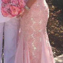 Blush Prom by Alexia Pink Mermaid Strapless Prom Dress Size 2 From Peaches Photo