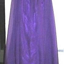 Blush Prom by Alexia Purple Evening Gown 24w Silver Sequin Top Sheer Bottom Nwot Photo