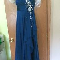 Blush Prom by Alexia Royal Blue Chiffon Prom Dress Size 10  Photo