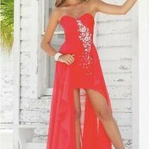 Blush Prom by Alexia Strapless Open Skirt Chiffon Dress Size 4 With Jewels Photo