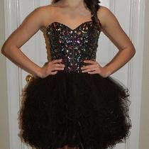 Blush Prom Cocktail Dress Photo