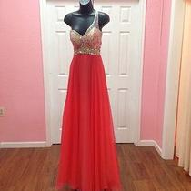 Blush Prom Dress Coral Size 4 Photo