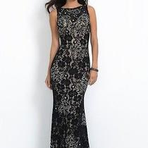 Blush Prom Dress Party  Evening Gown Long Formal  Sexy Color Black Size 18 Photo