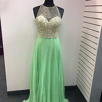 Blush Prom Dress Party  Evening Gown Long Formal  Sexy Color Green Size 12 Photo
