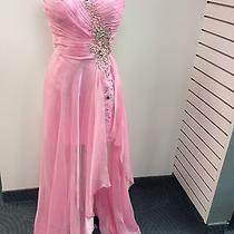 Blush Prom Dress Party  Evening  Long  Short Formal  Sexy Color Pink Size 16 Photo