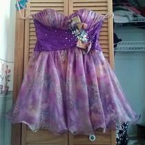 Blush Prom Dress Purple With Cheeta Photo