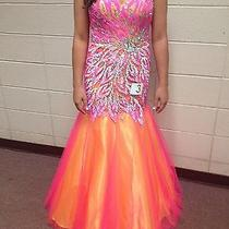 Blush Prom Dress Style 9722 Hot Pink and Yellow Photo